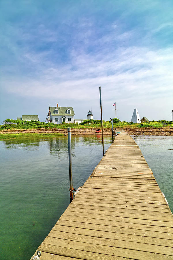 Lighthouse Photograph - Pier View Goat Island Fantastic Scene by Betsy Knapp