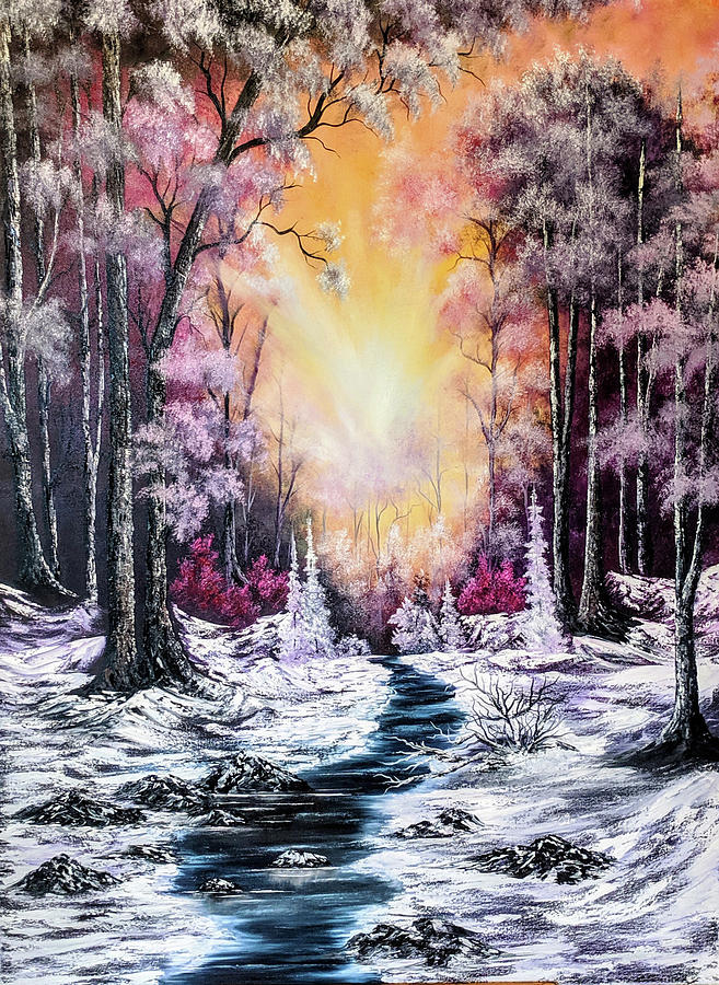Landscape Painting - Piercing Silence by Teri Lindley
