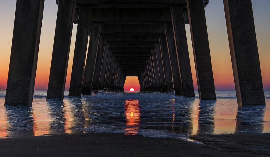 PierHenge - Tybee Island Pier Sunrise as on Nov 6 and Feb 6 by Peter Herman