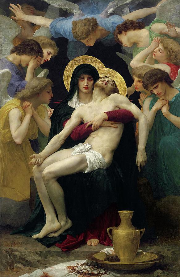 Bouguereau Painting - Pieta, 1876 by William-Adolphe Bouguereau