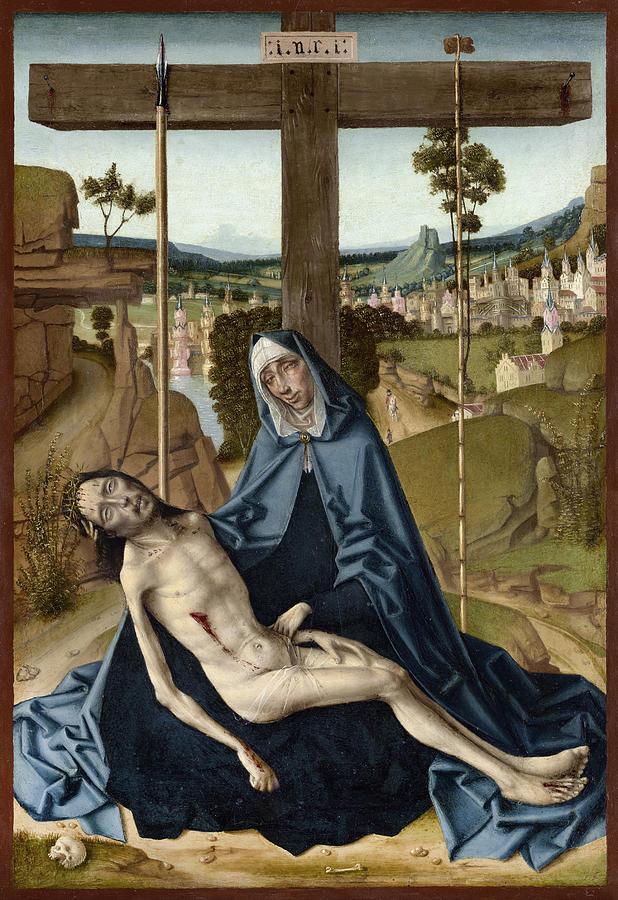 1495 Painting - Pieta, C1495 by Fernando Gallego