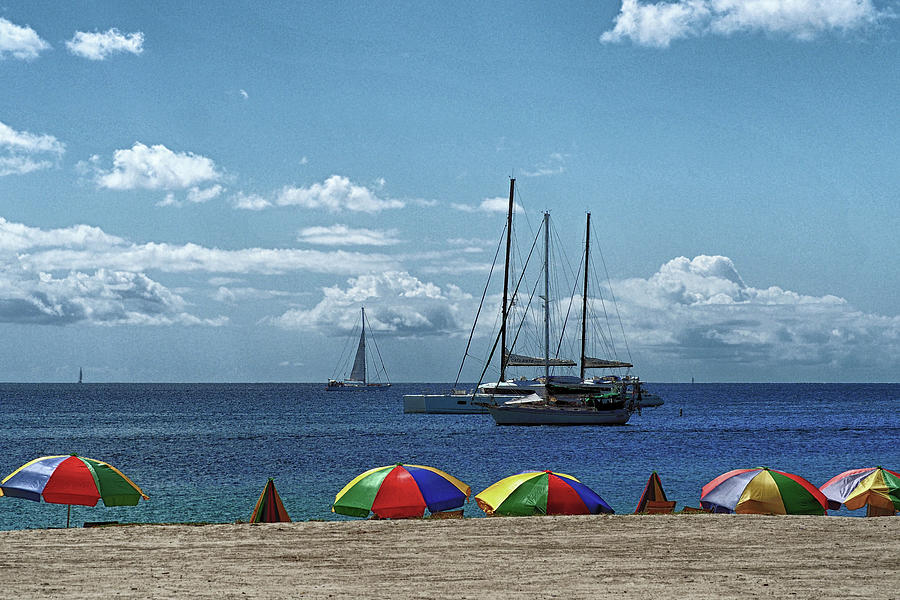 Pigeon Island Beach on St. Lucia by Bill Swartwout Fine Art Photography