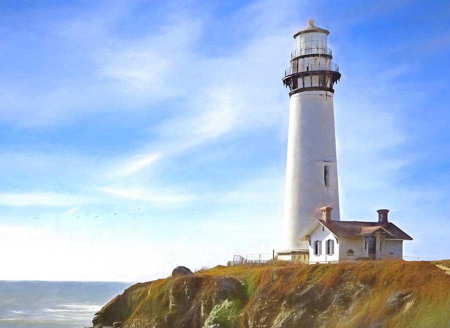 Pigeon Point Lighthouse CA by John A Rodriguez