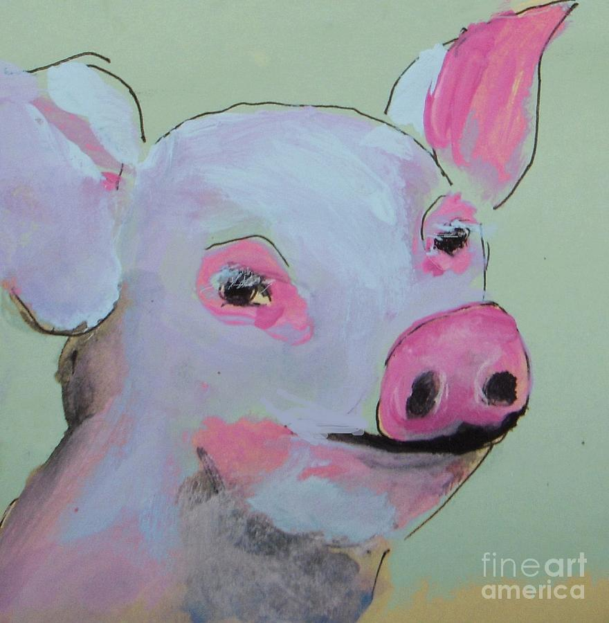 Pig Painting - Piggy Smile  by Vesna Antic