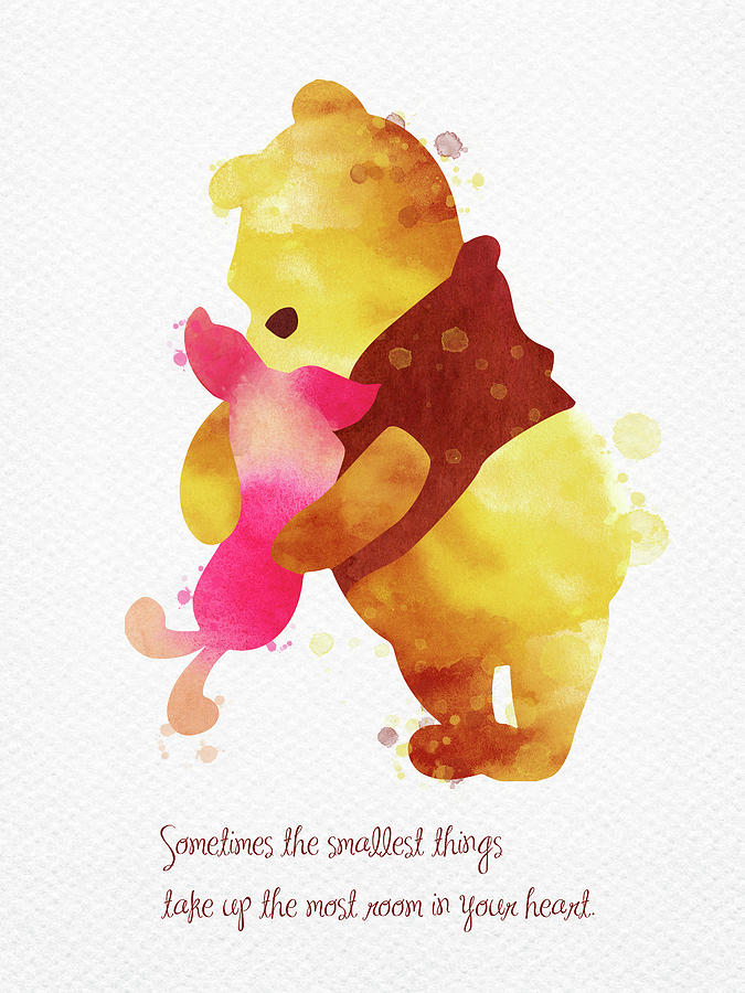 52638d7bd Piglet And Pooh Watercolor 2 Digital Art by Mihaela Pater