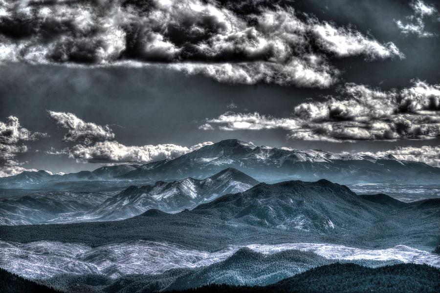 Pikes Peak and Clouds by Matt Swinden