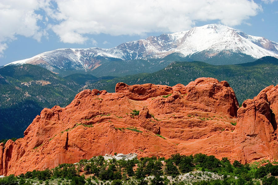 Pikes Peak And Garden Of The Gods Photograph by Swkrullimaging