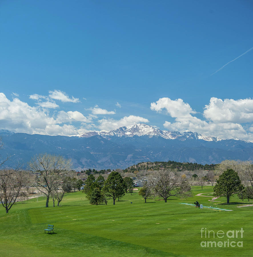 Pikes Peak From The Fairway by Tony Baca