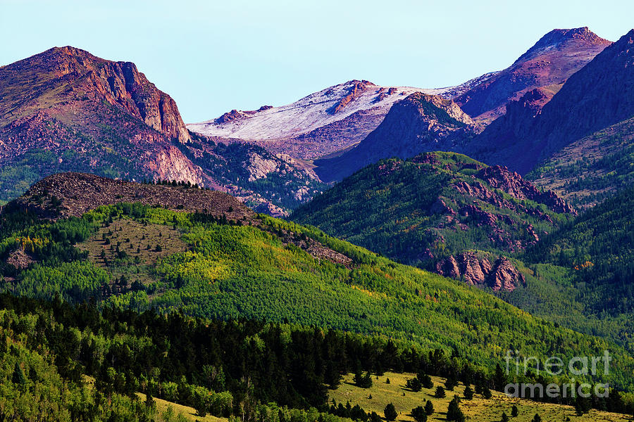 Pikes Peak Photograph - Pikes Peak in Early Autumn by Steven Krull