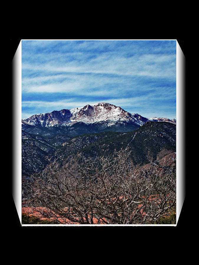 Pike's Peak in Winter by Richard Risely