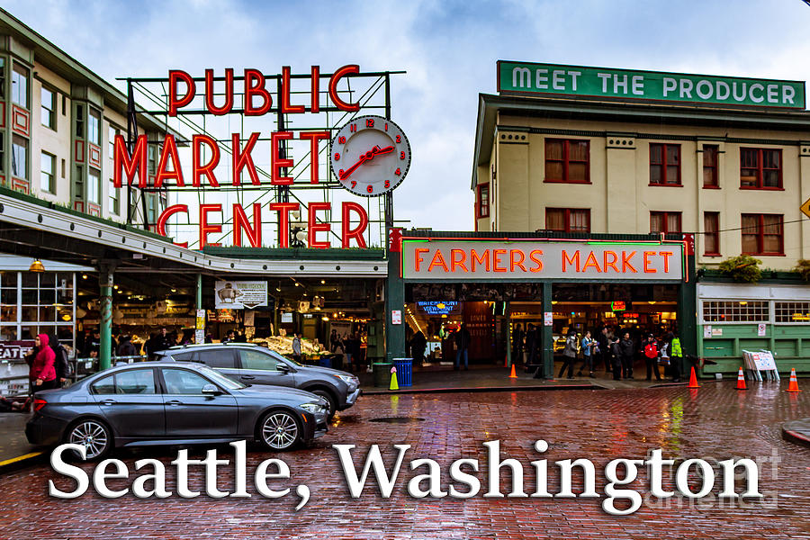 Pike's Place Photograph - Pikes Place Public Market Center Seattle Washington by G Matthew Laughton