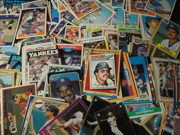 Pile Of Old Baseball Cards