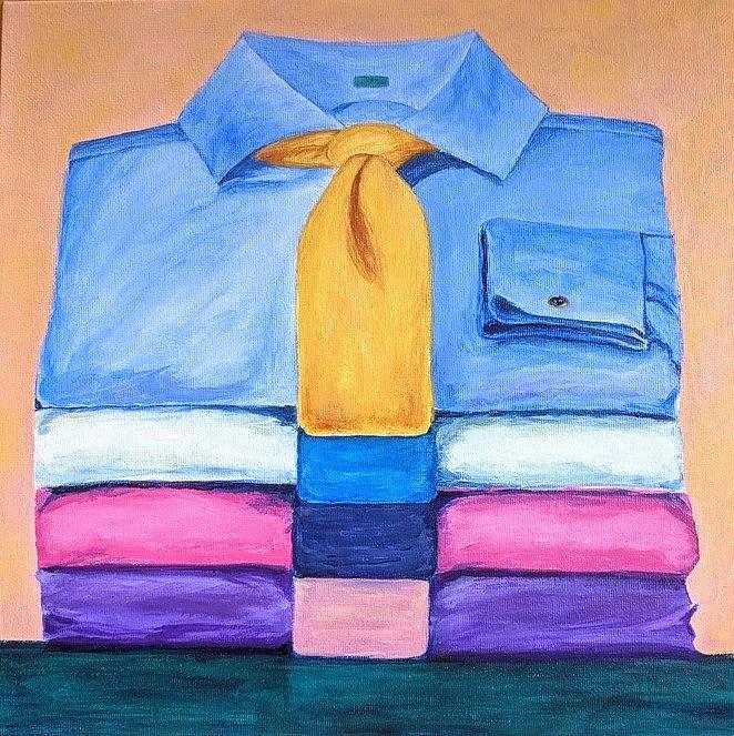 Pile of Shirts by Gail Friedman