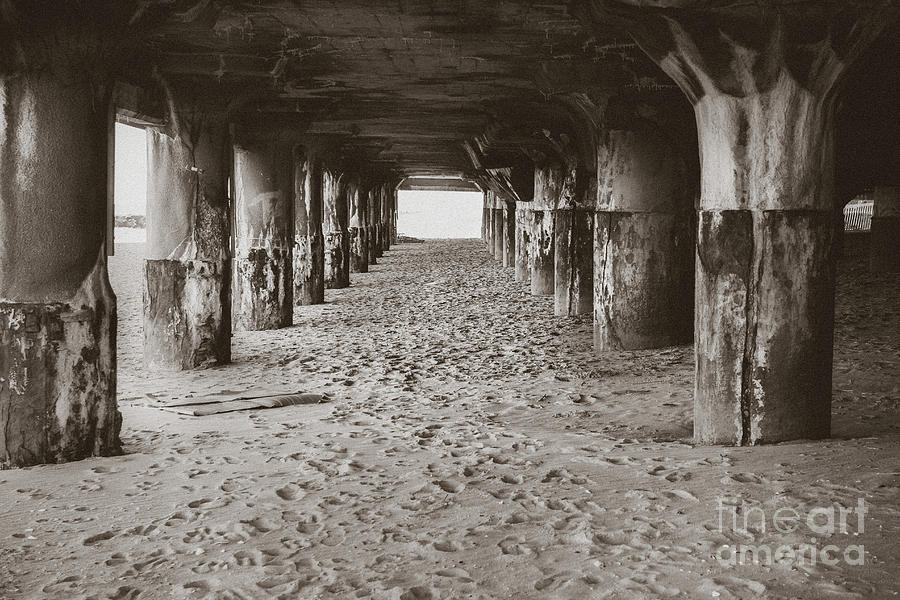 Pillars in the Sand - Convention Hall by Colleen Kammerer