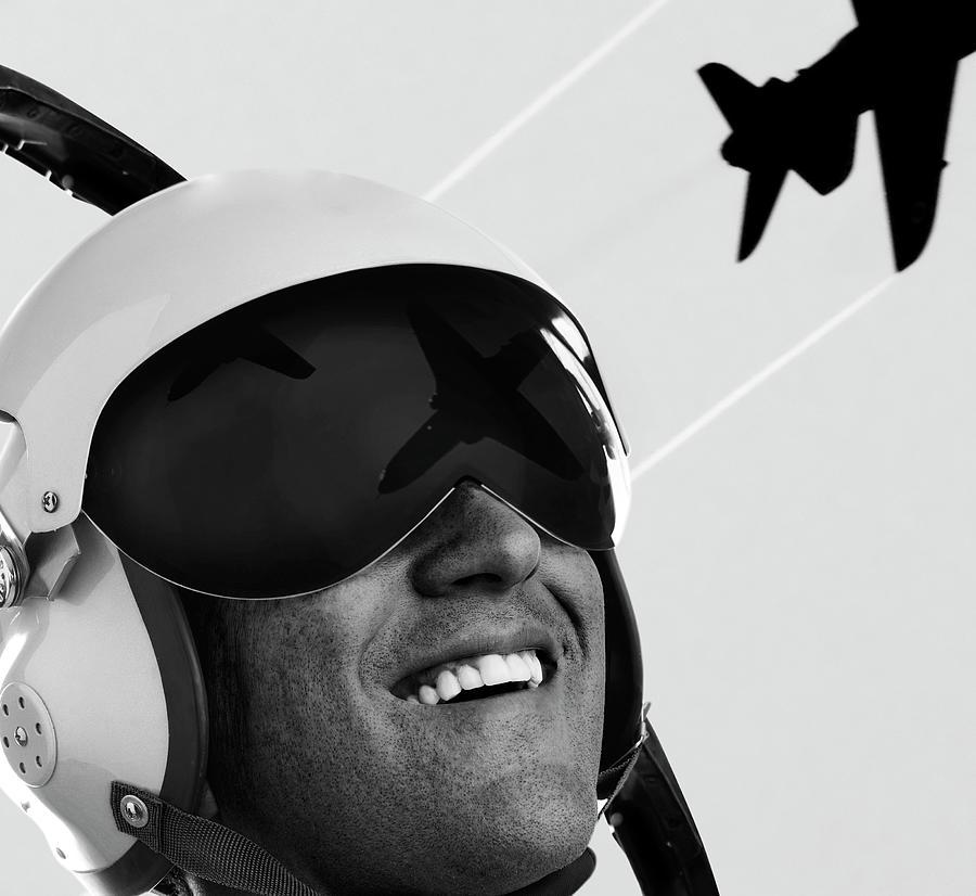 Pilot Helmet Photograph by Lockiecurrie