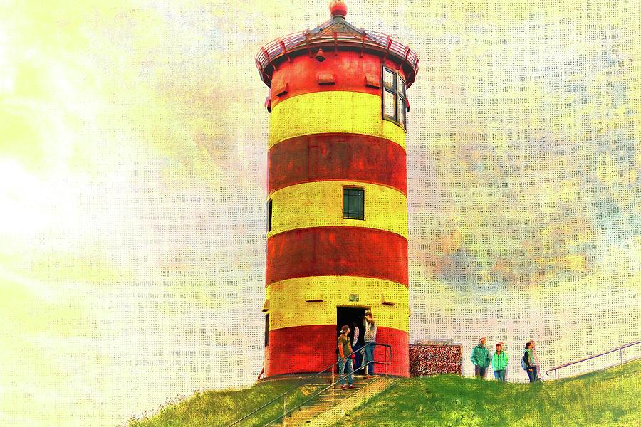 Lighthouse Photograph - Pilsum Lighthouse Leuchtturm  by Nicole Frischlich