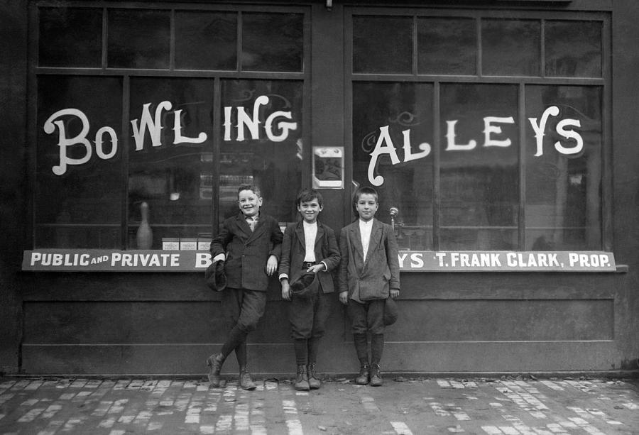 Pin Boys Outside Bowling Alley - 1911 by War Is Hell Store