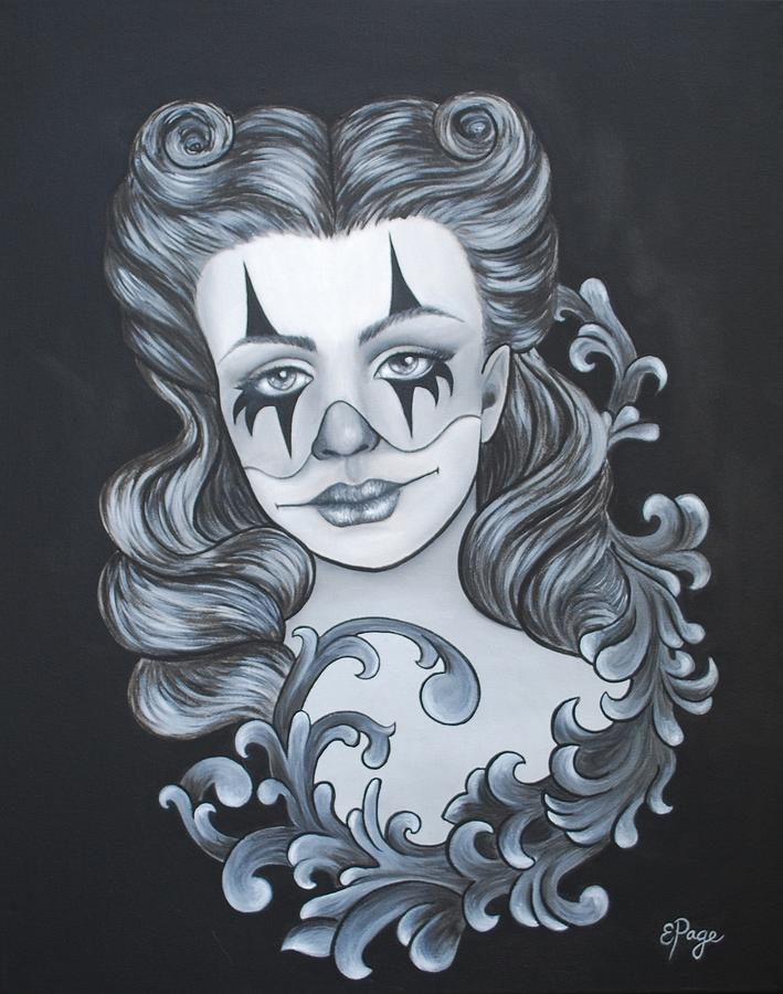 Pin Up Painting - Pin Up Filigree by Emily Page