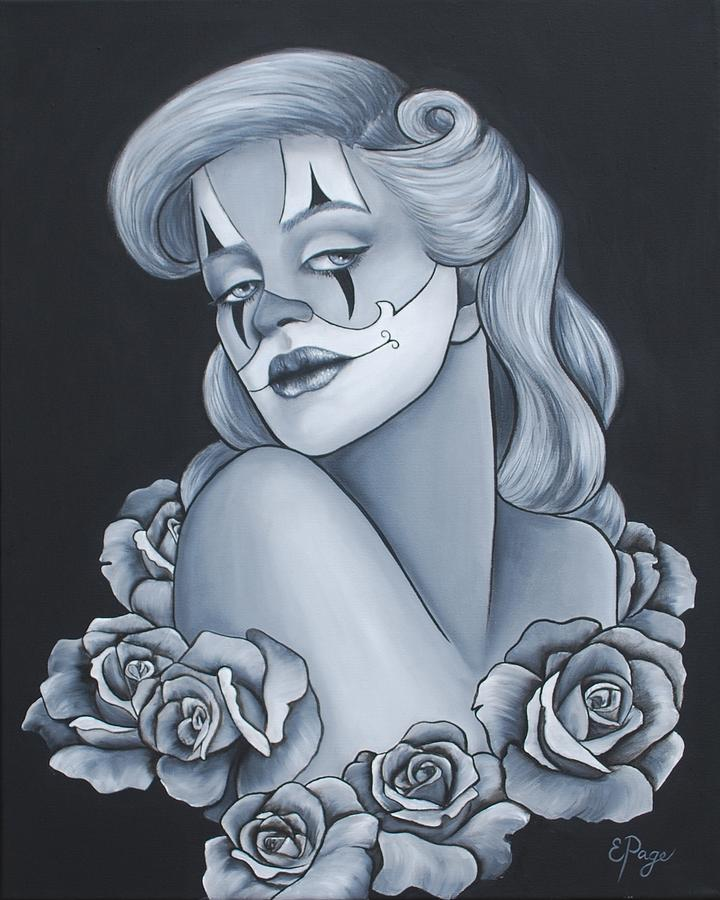Pin Up Painting - Pin Up Roses by Emily Page
