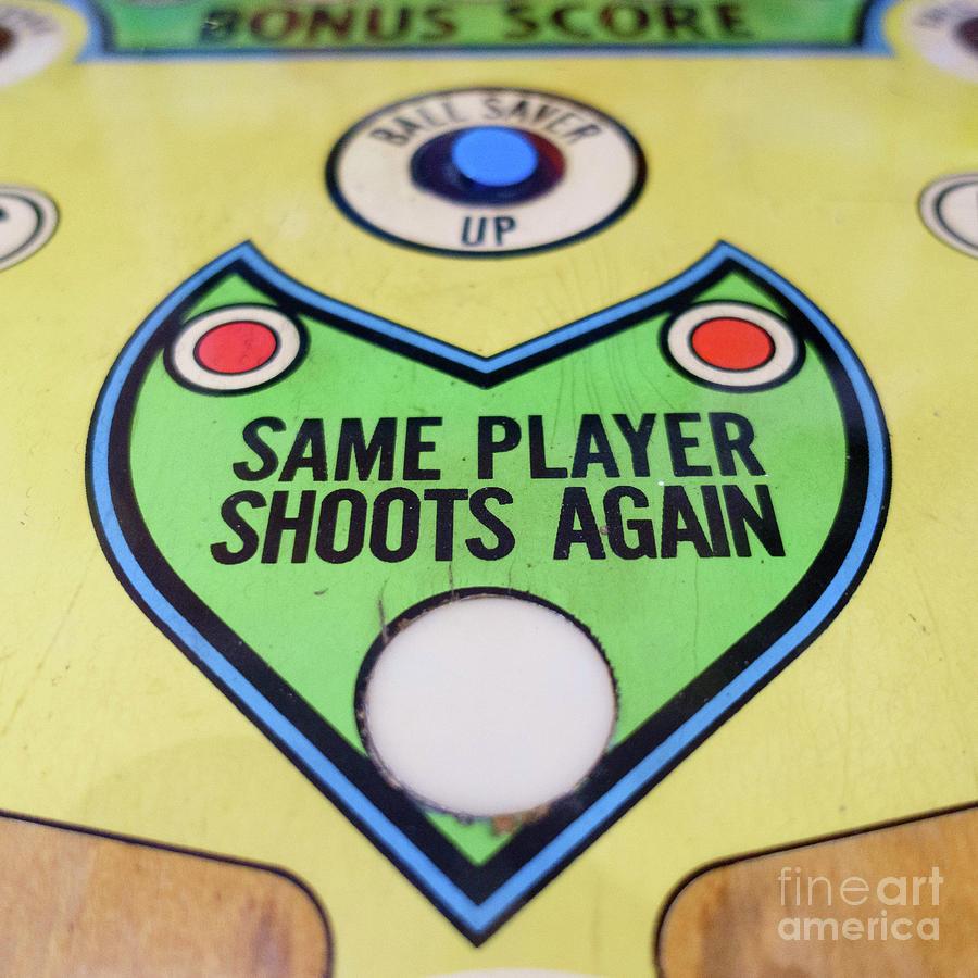 Pinball Photograph - Pinball Same Player Shoots Again by Edward Fielding