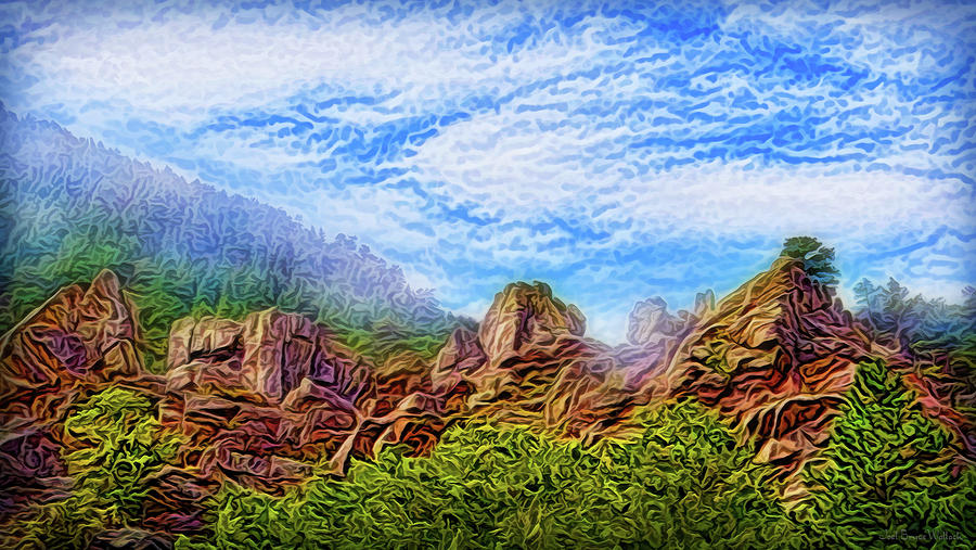 Pine Cliff Atmosphere by Joel Bruce Wallach