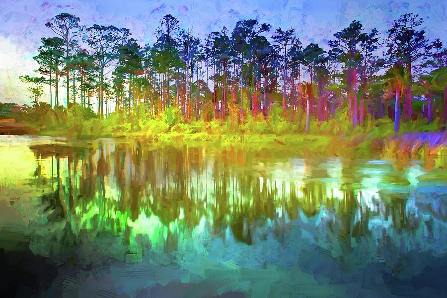 Pine Tree Reflections by Alice Gipson