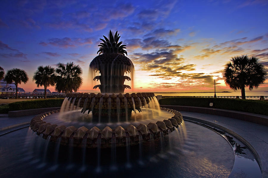 Pineapple Fountain In Charleston Photograph by Sam Antonio Photography