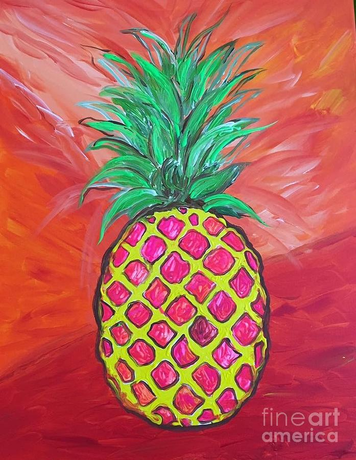 Pineapple in Pink by Sheila McPhee