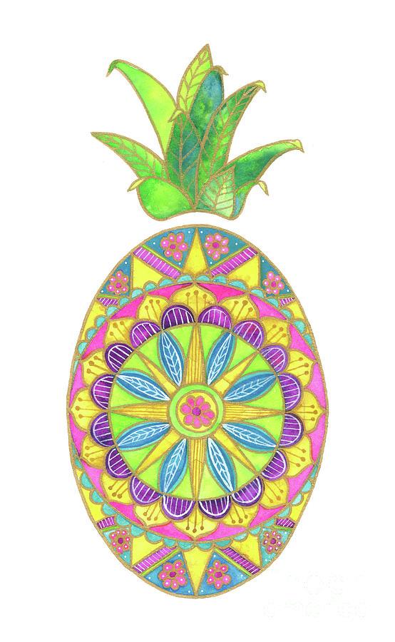Pineapple Mandala by Shelley Wallace Ylst