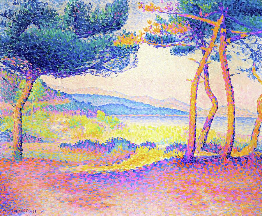 Henri Edmond Cross Painting - Pines Along The Shore - Digital Remastered Edition by Henri Edmond Cross