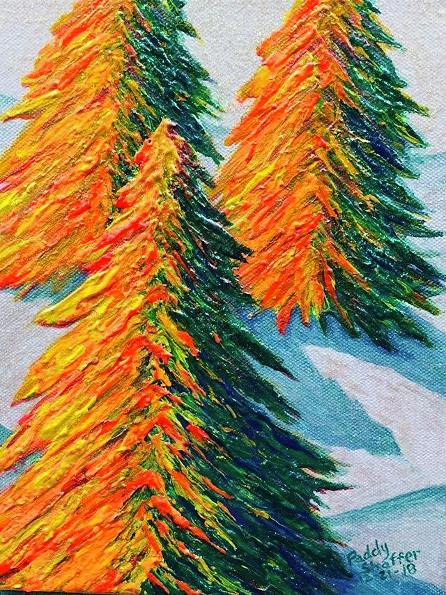 Pines in the Snow by Paddy Shaffer