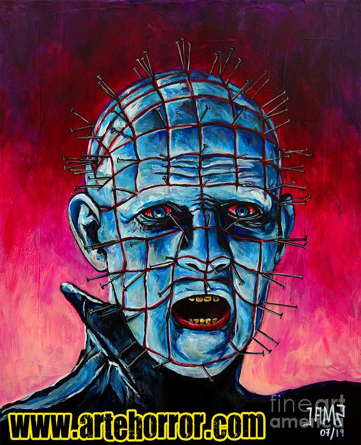 Pinhead Painting - Pinhead Hellraiser by Jose Mendez