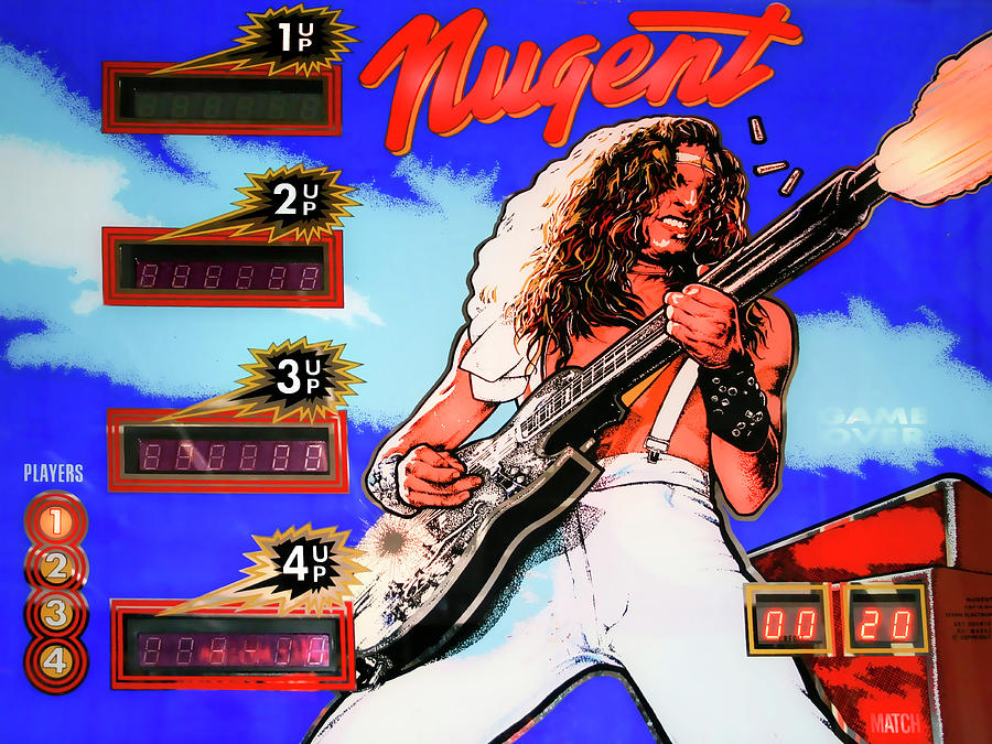 Ted Nugent Photograph - Pinhead Pinball by Dominic Piperata