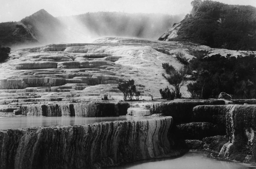 Pink & White Terraces Photograph by General Photographic Agency