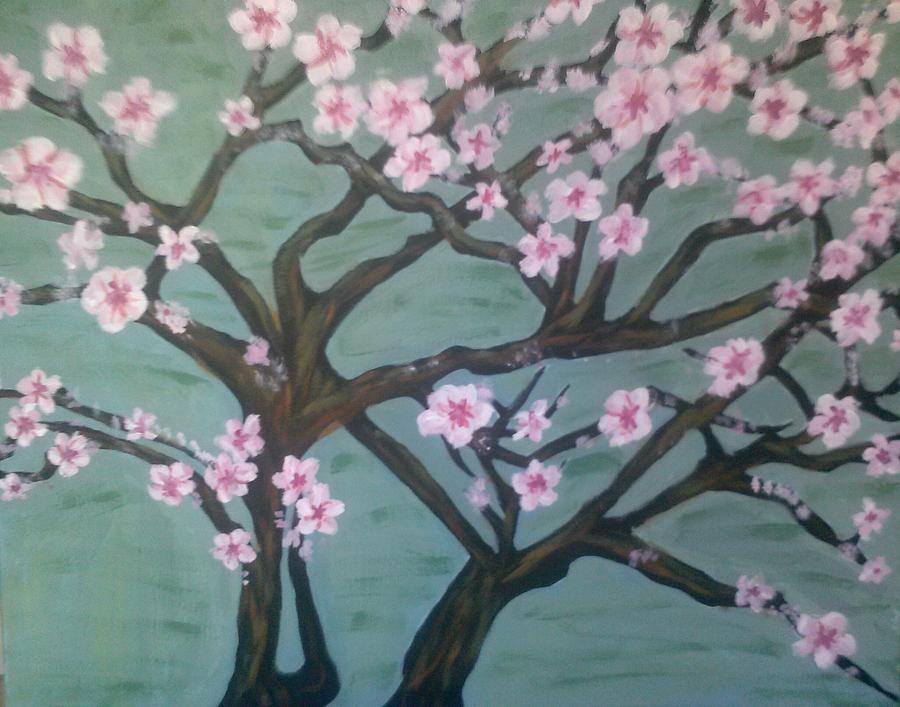 Almond Blossom Painting - Pink Almond Blossom by Whitney Wiedner