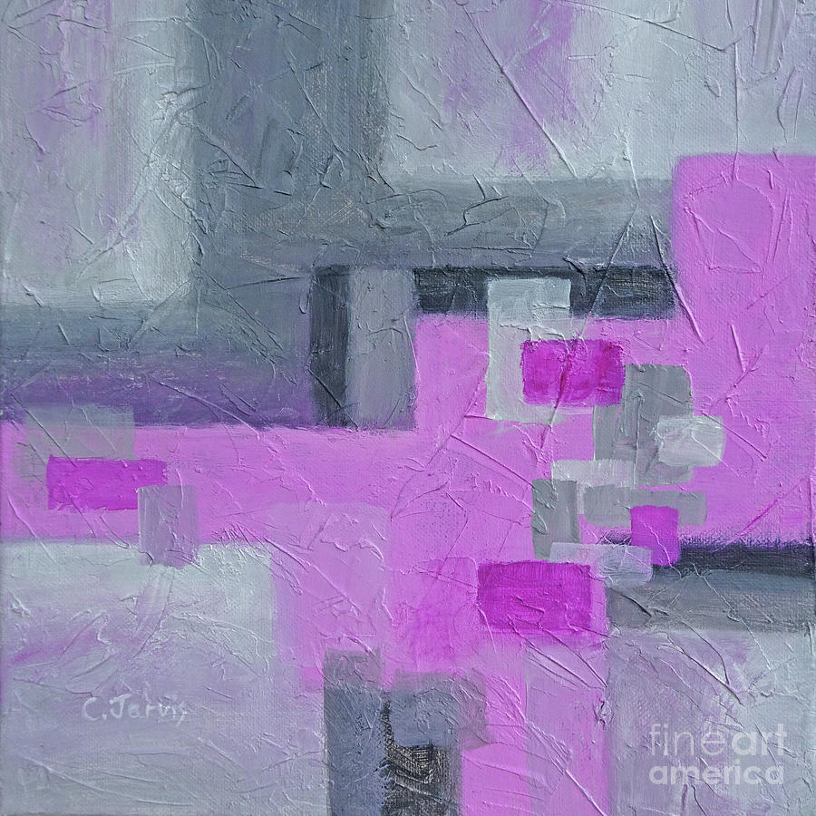 Pink and Grey Blocks by Carolyn Jarvis
