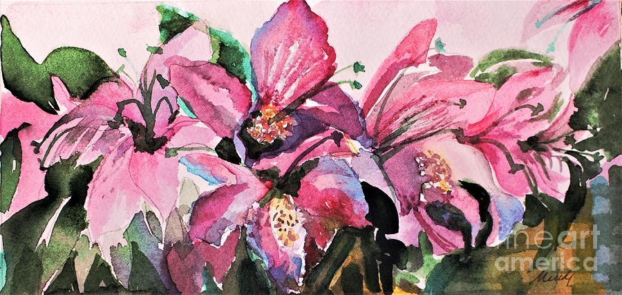 Pink Azaleas by Mindy Newman