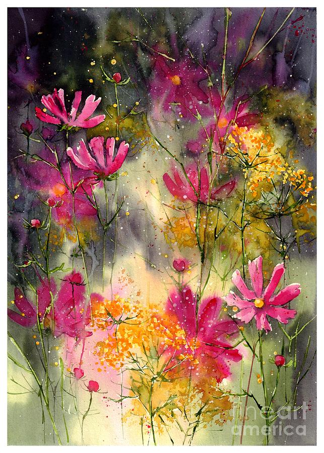 Floral Painting - Pink Ballerinas by Suzann Sines