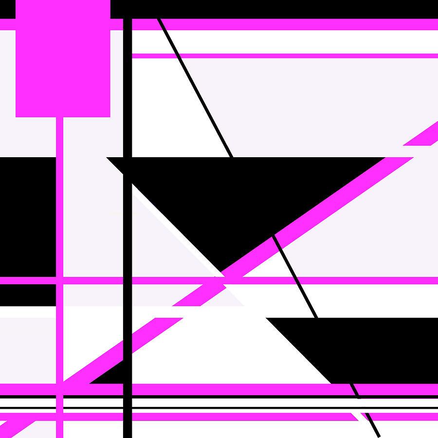 Pink Black 008 by Elastic Pixels