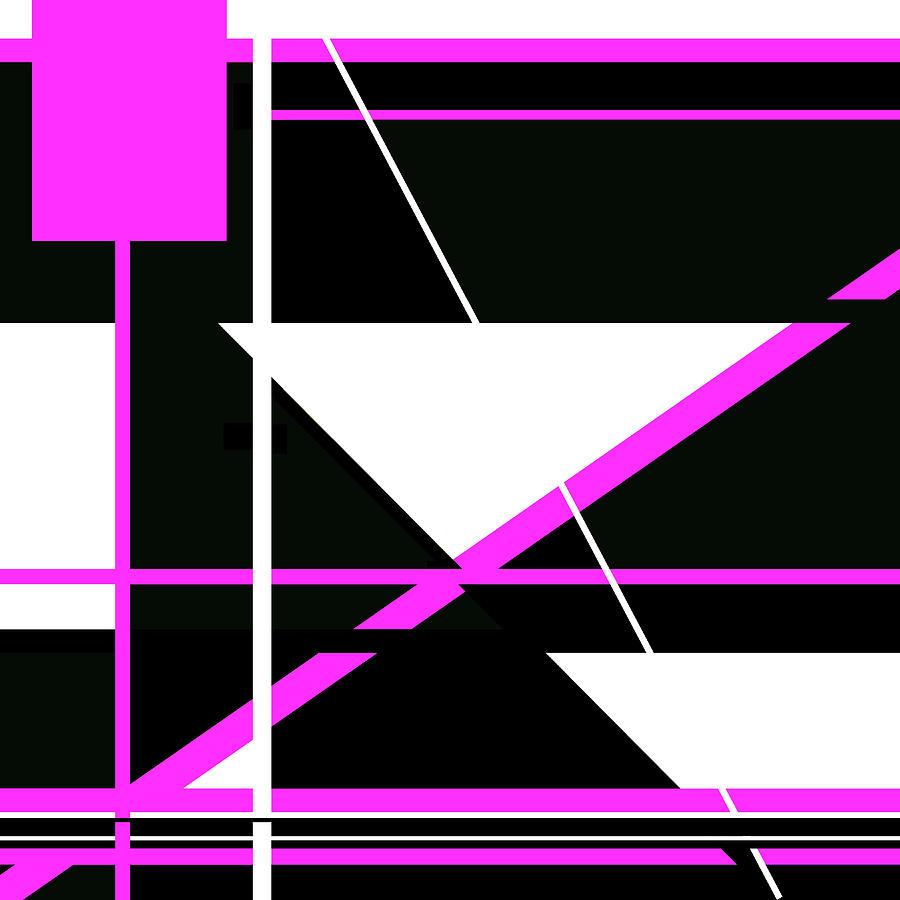 Pink Black 010 by Elastic Pixels