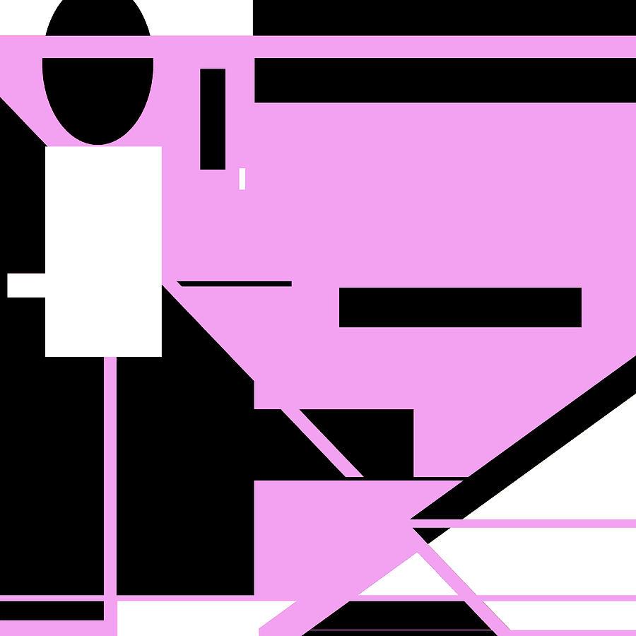 Pink Black 011 by Elastic Pixels