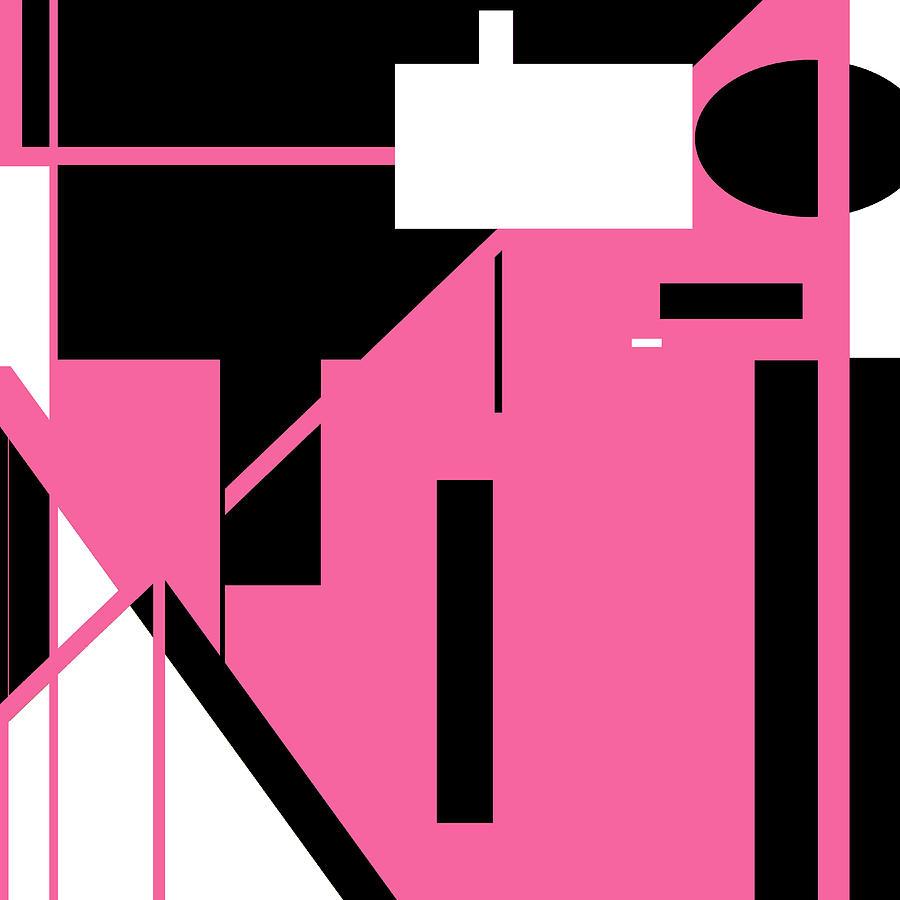 Pink Black 012 by Elastic Pixels