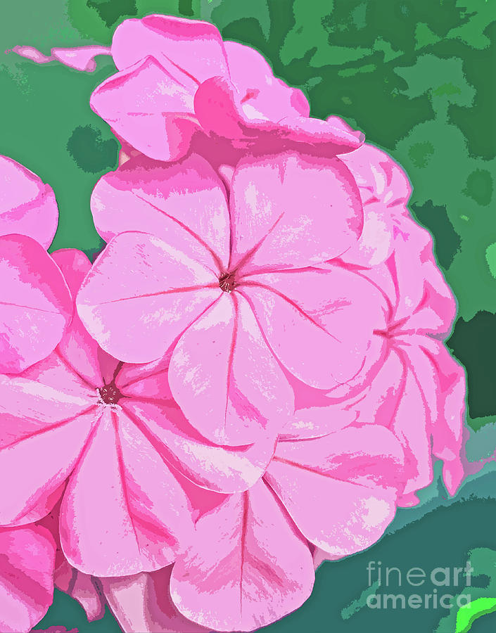 Pink Blossom Abstract 300 Painting
