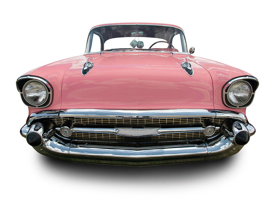Pink Chevrolet Bel Air 1957 Photograph by Schlol