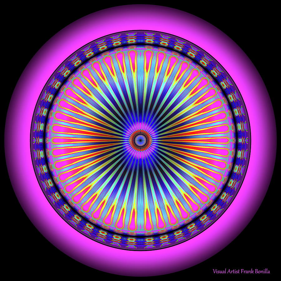 Pink Circus Sun  by Visual Artist Frank Bonilla