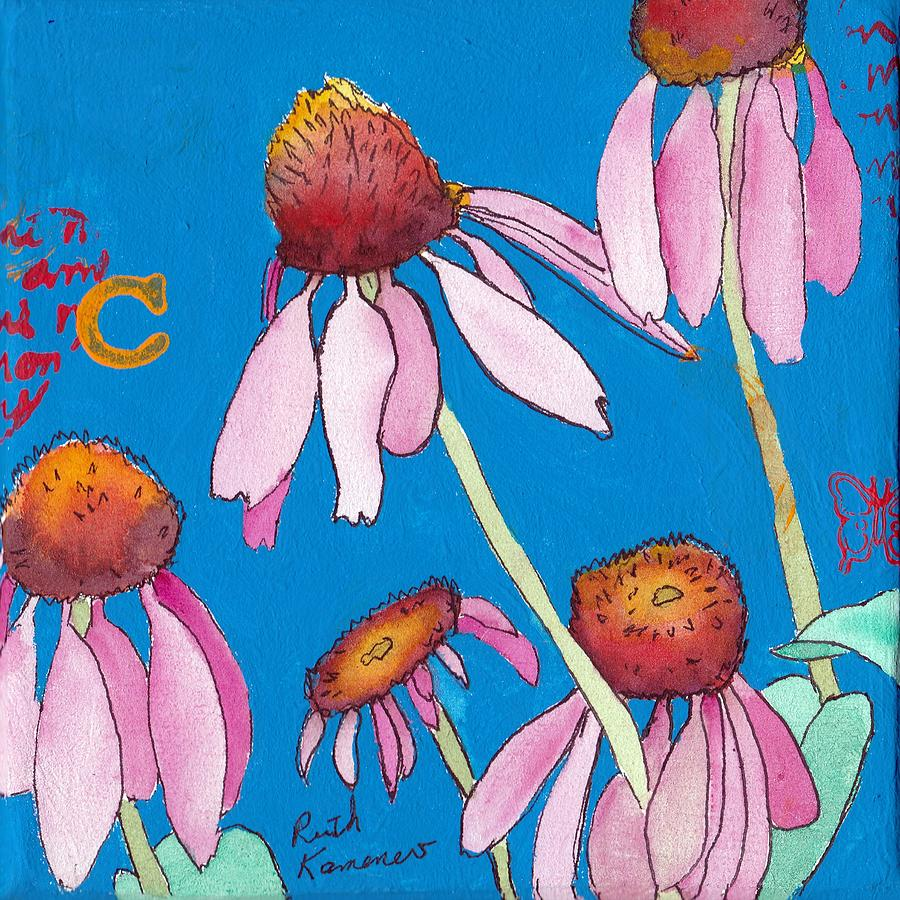 Pink Coneflowers by Ruth Kamenev