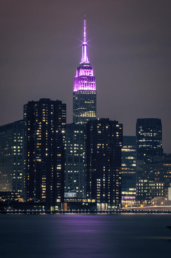 Midtown Photograph - Pink Empire State Building by Lorrie Joaus