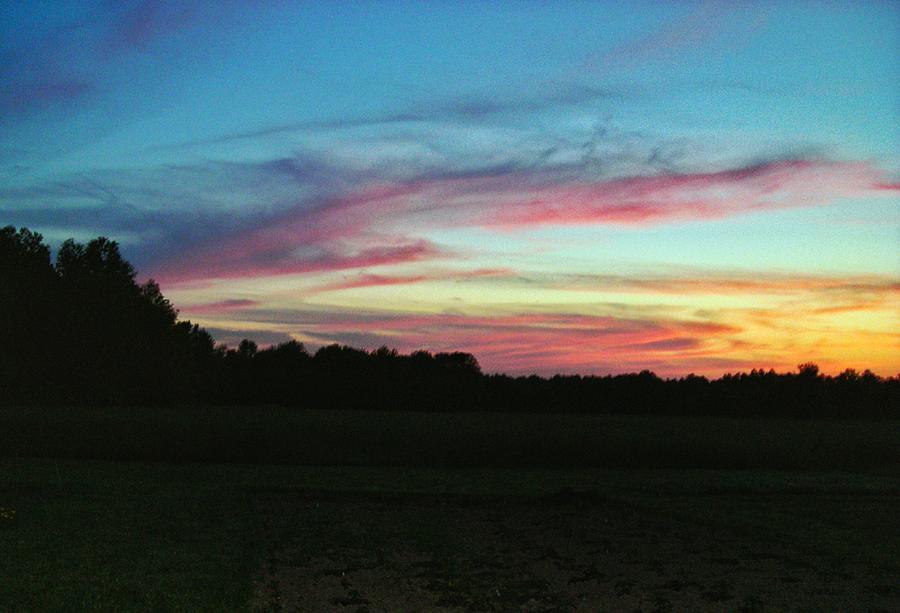 Pink Evening Sky Photograph