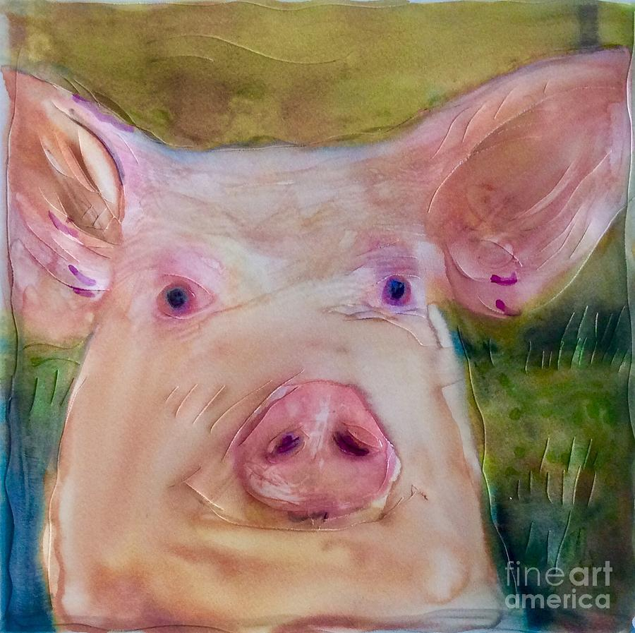 Pink Eye by FeatherStone Studio Julie A Miller