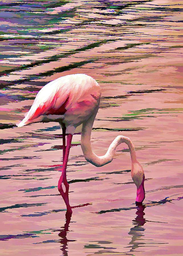Pink Flamingo Two by Rosalie Scanlon